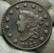 1822 Penny Coronet Large Cent - Nice Coin, Free Shipping 150