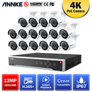 Annke 32ch H.265+ 12mp Nvr 4k 8mp Ip Network Poe Security Camera System Outdoor