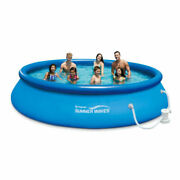 Summer Waves P1001030a138 10and039x30 Portable Above Ground Pool With Filter Pump
