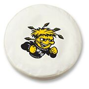 Wichita State Shockers Hbs White Vinyl Fitted Car Tire Cover