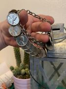 Rare 1956 Silver Plated 15 Count Wheat Penny Bracelet/only One Of It's Kind