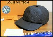 Louis Vuitton Leather Cap Cowhide Black Unused Sold Out Made In Italy 298/ak