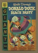 Dell Giant Donald Duck Beach Party 3a Vg+ 4.5 1956