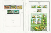 Tanzania Stamp Collection On 8 Pages Animals Fish Birds Mint Sets Jfz