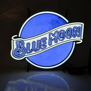 Blue Moon Beer Led Lighted Sign New In Box Bar Pub Man Cave Drink Game Room Man