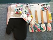 Disney Mickey And Minnie Mouse Oven Mitt/pot Holder, Spatulas, Measuring Spoons