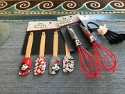 Disney Mickey And Minnie Mouse Kitchen Utensils Whisks Spatulas Measuring Spoons