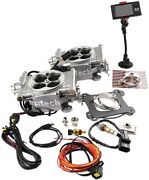 Fitech Fuel Injection 30061 Go Efi 2x4 Dual Quad Kit Up To 625 Hp Normally Aspir