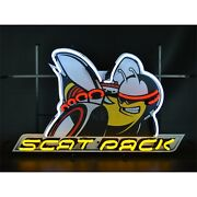 Neonetics 5scatb Dodge Scat Pack Neon Sign With Backing 30 Width X 19 Height X 4