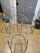 Mid Century Modern Metal Chairs Italian. Awesome Pieces. Only 3 East Texas
