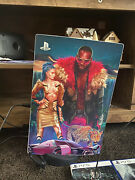 Sony Ps5 Disk Edition Console - White With Cyberpunk Skin.