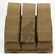 Tactical Tailor Molle Pistol Magazine Triple Pouch - Coyote Brown