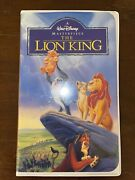 Vintage Walt Disneyand039s The Lion King Masterpiece Collection Vhs Tape 2977