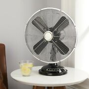 Metal Table Fan 8'' 12'' Retro 3-speed Vintage Durable - Free Shipping
