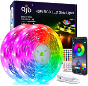 40 Ft Led Strip Lights Bluetooth - Rgb 5050 Led Music Sync Color Changing