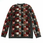 Pole Total Pattern Cashmere Long Sleeve Knit 07a Multi Colored No.6957