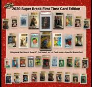 Case 2020 Super Break First Time Card Edition Box - One Graded Card For Box