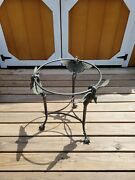 Vintage Rare Iron And Bronze Maitland Smith Swan And Claw Feet Side Table 24 Tall