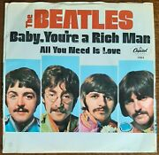 Beatles Rare Ex+ West Coast Sleeve And Nm- Vinyl All You... Love Plays Incredibly