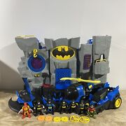 Imaginext Batman Bat Cave Play Set With Accessories, 7 Figures And Vehicles