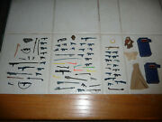 Star Wars Vintage Figure Parts Lot - Guns Weapons Lightsabers Yak Face 70and039s 80and039s