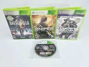 Xbox 360 - 4 Game Bundle - Call Of Duty, Sniper, Ghost Recon, Battlefield