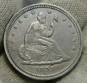 1839 Seated Liberty Quarter 25 Cents - Key Date 491146 Very Nice Coin 389