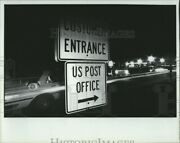 1987 Photo Entrance Sign To Us Post Office Income Tax Return Deadline 10x8