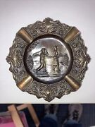 Nice Old Antique Golf Scene Ashtray Heavy Metal Use It With Your Golf Beer Stein
