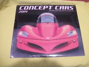 2014 Concept Cars 12 Month Wall Calendar Monthly Page Format - New - Sealed