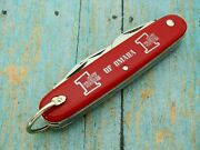 Vintage Colonial Prov Usa Bank Of Omaha Swiss Army Scout Pocket Knife Knives Nm