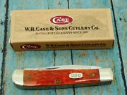 Limited Ed Case Xx 6254 Magicians Red Green Bone Trapper Pocket Knife Knives Mib
