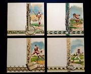1880and039s Baseball Set Of Four Wright/ditson Score Cards