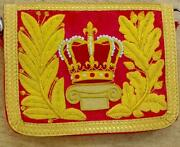 Royal Uk Britain Empire Crest Cavalry Army Crown Messenger Pouch Bag Officer Hrh