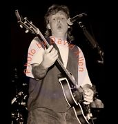 Paul Mccartney At Cat Club - Photo - 16x20 Inch Printed - Signed By Photographer