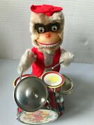 Alps Battery Powered Drummer 'chimpy' Boxed Working, Japan Japanese Chimpanzee