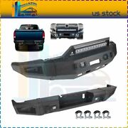 Front / Rear Bumper W/ Led Lights D-rings For 10-18 Dodge Ram 2500 3500 Textured