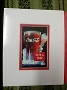 Vintage 2 Coca Cola Have A Coke Sold Everywhere 5 Cents 8x10 Ads Matted To Frame