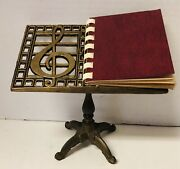 Vintage Miniature Brass Music Sheet Stand Photo Album For 2x3 Mini Print Picture