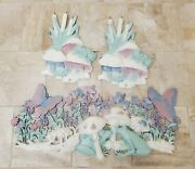 X3 Vintage Burwood Products 0161 And 359 Mushroom Frog And Butterfly Wall Plaques