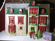 Fisher-price Loving Family Home For The Holidays Dollhouse Christmas Complete