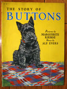 The Story Of Buttons By Marguerite Kirmse 1936 Merrill Linen Book Scotty Dog