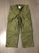 Alamo Mfg Men Large 35-38 Trousers Cold Weather Permeable Pant Military Surplus