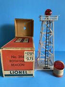 Lionel Trains No. 394 Rotating Beacon With Original Box And Lantern 1950-1953