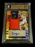 Baker Mayfield 2018 Panini Select 1 Orange Pulsar Patch Auto Rc /23 Bgs 9.5 10