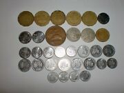 - Mexico Coin Lot Of 32 Old And New Coins - 50, 20 And 10 Centavos -1943 - 20145