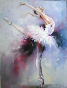 Portrait Oil Painting Ballet Dancer Abstract Canvas Wall Art Hanging Decoration