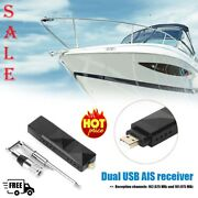 Boat Ship Marine Dual Channel Ais Receiver With Antenna Usb Output Interface
