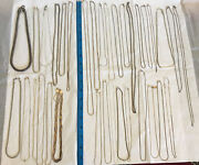 Vintage To Now Jewelry Lot Of 40 925 Sterling Silver Chains Necklaces 294 Grm