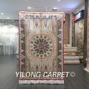 Yilong 4and039x6and039 For Prayer Silk Area Rugs Handmade Carpet House Hand-knotted 541a